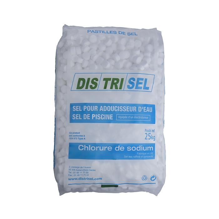 Sel pour adoucisseur d'eau - sel de piscine - sac de 25 kg